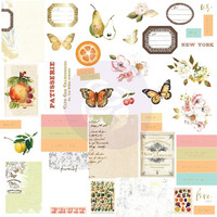 Prima Marketing - Fruit Paradise Cardstock Ephemera ,44 osaa