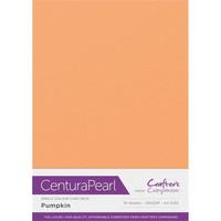 Crafter`s Companion - Helmiäiskartonki, Pumpkin, A4, 10 arkkia