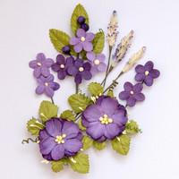 49 and Market - Wildflowers, Violet, Paperikukkasetti