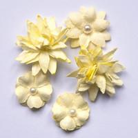 49 and Market - Flower Mini, Cream, Paperikukkasetti