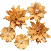 49 and Market - Flower Mini, Ginger, Paperikukkasetti