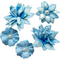 49 and Market - Flower Mini, Cobalt, Paperikukkasetti