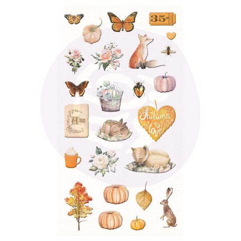 Prima Marketing - Autumn Sunset Puffy Stickers, 25 osaa