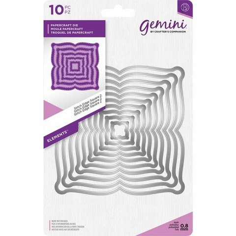Gemini - Elements Dies, Stitch Edge Square 2, Stanssisetti