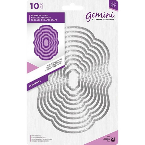 Gemini - Elements Dies, Stitch Edge Oval 2, Stanssisetti