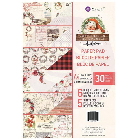 Prima Marketing - Christmas In The Country, Paperikko, A4, 30 sivua