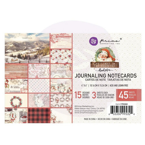 Prima Marketing - Christmas In The Country Journaling Notecards, 4