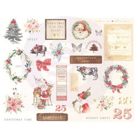 Prima Marketing - Christmas In The Country Chipboard Stickers, 29 osaa