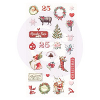 Prima Marketing - Christmas In The Country Puffy Stickers, 27 osaa