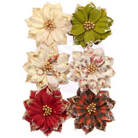 Prima Marketing - Christmas In The Country Mulberry Flowers, Warm Mittens