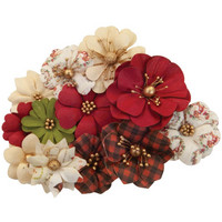 Prima Marketing - Christmas In The Country Mulberry Flowers, St. Nick