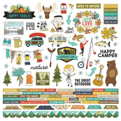 Simple Stories - Happy Trails Combo Sticker 12