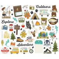 Simple Stories - Happy Trails Bits & Pieces Die-Cuts, 59 osaa