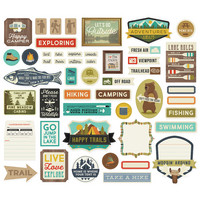 Simple Stories - Happy Trails Journal Bits & Pieces Die-Cuts, 49 osaa