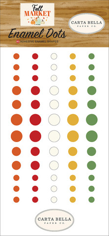Carta Bella - Fall Market Enamel Dots, 60 kpl