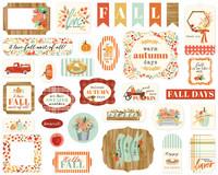 Carta Bella - Fall Market Ephemera, Leikekuvia, 33 kpl