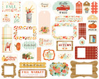 Carta Bella - Fall Market Ephemera Frames And Tags, Leikekuvia, 33 kpl