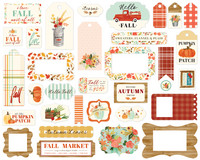 Carta Bella - Fall Market Ephemera Frames And Tags, Leikekuvia, 33 kpl