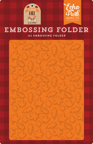 Echo Park - My Favorite Fall, Fall Is In The Air, Embossing Folder, Kohokuviotasku