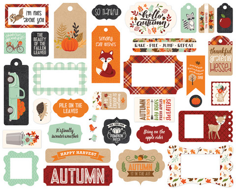 Echo Park - My Favorite Fall Frames & Tags, Leikekuvia, 33 kpl