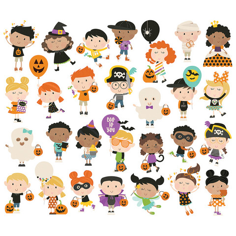 Simple Stories - Say Cheese Halloween Happy Kids Bits & Pieces Die-Cuts, 28 osaa