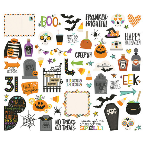 Simple Stories - Say Cheese Halloween Icon Bits & Pieces, 62 osaa