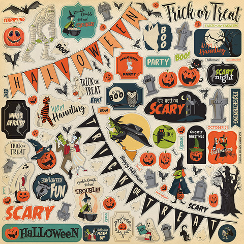 Carta Bella - Happy Halloween Element Sticker 12