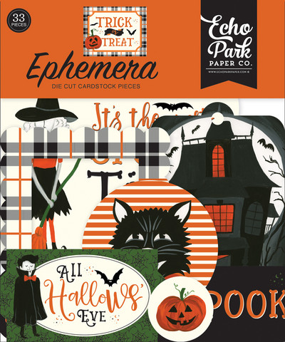 Echo Park - Trick or Treat Ephemera, Leikekuvia, 33 kpl