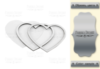 Fabrika Decoru - Shaker dimension set, Heart, hopea