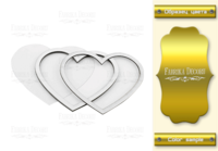 Fabrika Decoru - Shaker dimension set, Heart, kulta