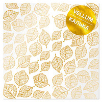 Fabrika Decoru - Gold foiled Vellum Sheet, 12