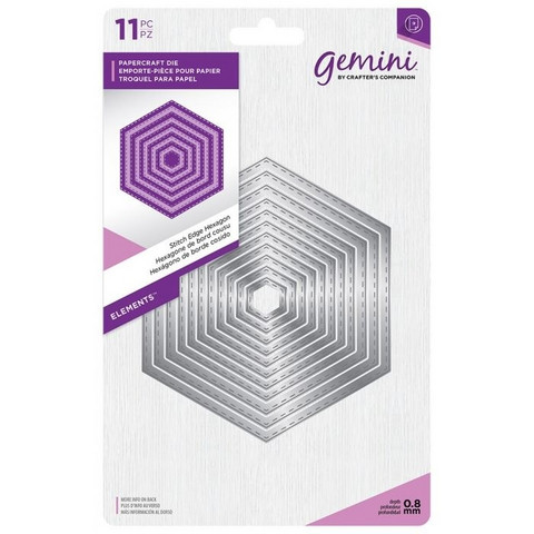 Gemini - Elements Dies, Stitch Edge Hexagon, Stanssisetti