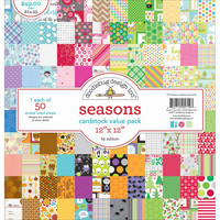 Doodlebug - Seasons, Double-Sided Paper Pack 12