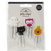 Doodlebug - Halloween Pals, Jelly Clips, 4 kpl