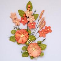 49 and Market - Wildflowers, Tangerine, Paperikukkasetti