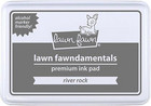 Lawn Fawn - Dye Ink, River Rock, Leimamustetyyny (permanent)