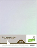 Lawn Fawn - Vellum, Pearlescent 10 arkkia