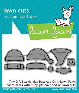 Lawn Fawn - Tiny Gift Box Holiday Hats Add-On, Stanssisetti
