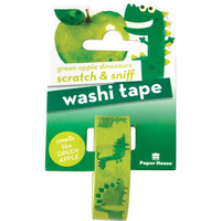 Paper House - Scratch & Sniff Washi Tape, Green Apple Dinosaurs, Washiteippi