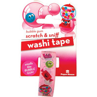 Paper House - Scratch & Sniff Washi Tape, Bubble Gum, Washiteippi