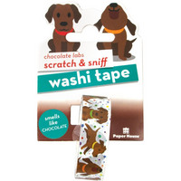 Paper House - Scratch & Sniff Washi Tape, Chocolate Labs, Washiteippi