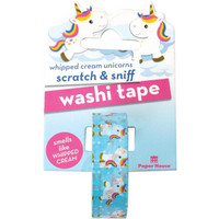 Paper House - Scratch & Sniff Washi Tape, Whipped Cream Unicorn, Washiteippi