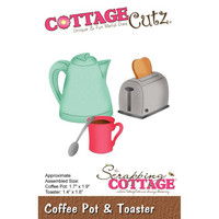 Cottage Cutz - Coffee Pot & Toaster, Stanssisetti