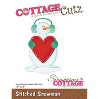 Cottage Cutz - Stitched Snowman, Stanssisetti