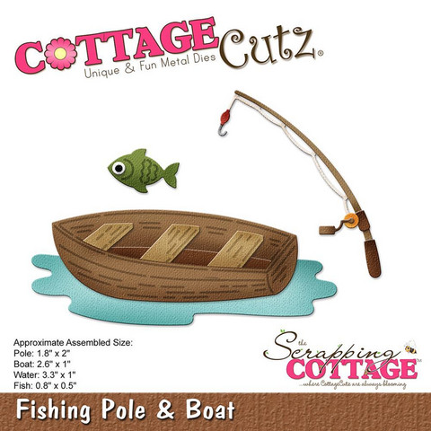 Cottage Cutz - Fishing Pole & Boat, Stanssisetti