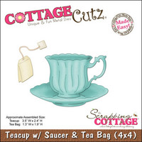 Cottage Cutz - Teacup/Saucer, Stanssisetti