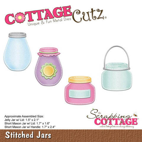 Cottage Cutz - Stitched Jars, Stanssisetti