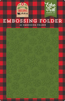 Echo Park - My Favorite Christmas, Christmas Snowfall, Embossing Folder, Kohokuviotasku