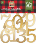 Echo Park - My Favorite Christmas, Decorative Numbers, Gold Foil, 53 kpl