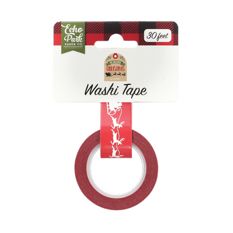 Echo Park - My Favorite Christmas Decorative Tape, 15mmx4,5m, Sleigh Ride